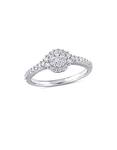 Concerto 0.5 TCW Diamond Composite Halo Engagement Ring in 14K White Gold-WHITE-9