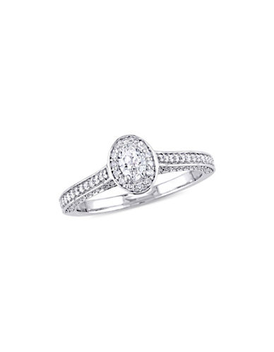 Concerto 0.75 TCW Diamond Oval Raised Halo Engagement Ring in 14K White Gold-WHITE-8