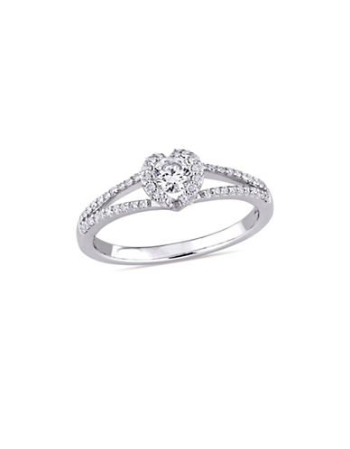 Concerto 0.4 TCW Diamond Split Shank Engagement Ring in 14K White Gold-WHITE-8