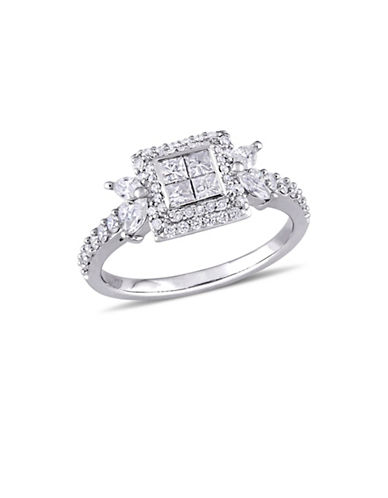 Concerto 1 TCW Princess-Cut Diamond Quad Halo Engagement Ring in 14K White Gold-WHITE-6