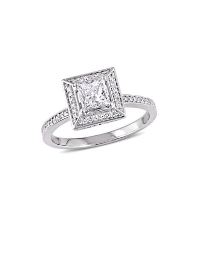 Concerto 0.75 TCW Diamond Floating Halo Engagement Ring in 14K White Gold-WHITE-6