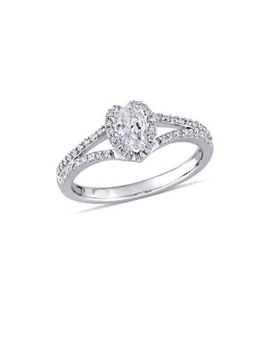 Concerto 0.75 TCW Diamond Heart Halo Engagement Ring in 14K White Gold-WHITE-6