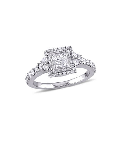 Concerto 1 TCW Diamond Quad Halo Engagement Ring in 14K White Gold-WHITE-8