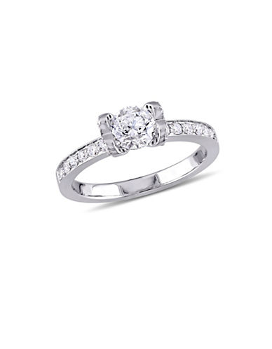 Concerto 1 TCW Diamond Engagement Ring with Heart-Shaped Design Prongs in 14K White Gold-WHITE-6