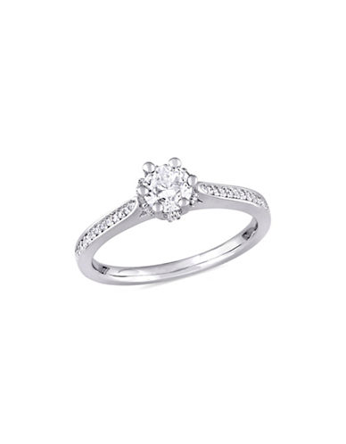 Concerto 0.625 TCW Diamond Vintage Engagement Ring in 14K White Gold-WHITE-8