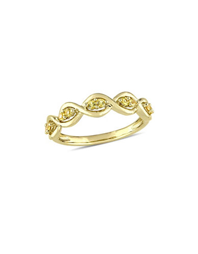 Concerto Yellow Sapphire Infinity Anniversary Ring in 14K Yellow Gold-GOLD-8
