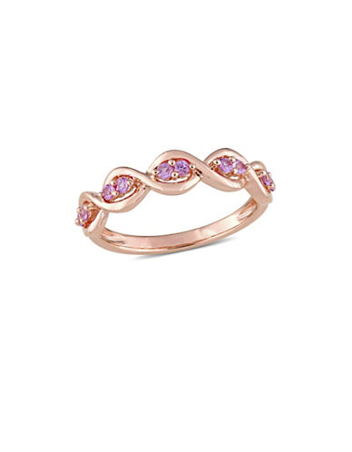 Concerto Pink Sapphire Infinity Anniversary Ring in 14K Rose Gold-PINK-7