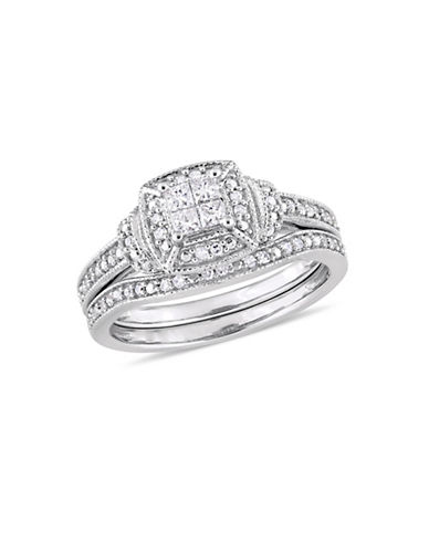 Concerto 10K White Gold Halo Bridal Ring with 0.33 TCW Diamonds-WHITE-5