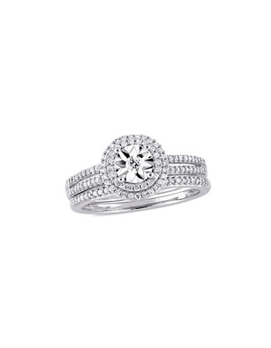 Concerto 10K White Gold and 0.37 TCW Diamond Halo Bridal Ring-WHITE-6
