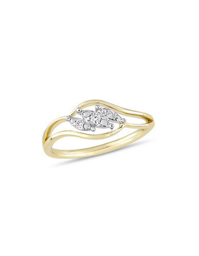 Concerto 10K Yellow Gold and 0.05 TCW Diamond Ring-WHITE-7