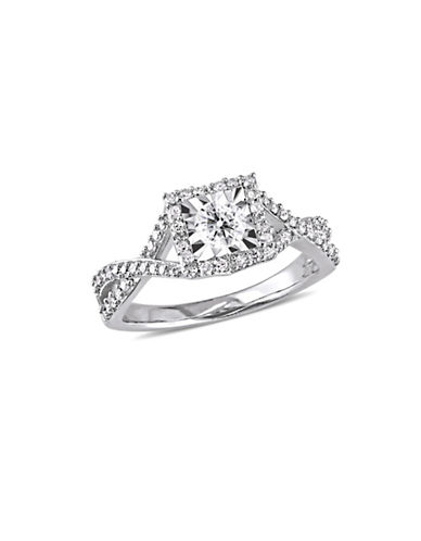 Concerto Sterling Silver and 0.5 TCW Diamond Halo Ring-WHITE-5