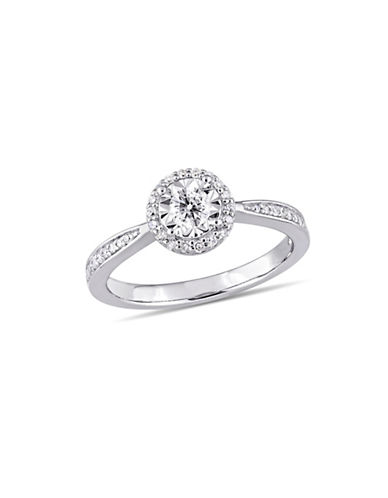 Concerto Sterling Silver and 0.33 TCW Diamond Halo Ring-WHITE-9
