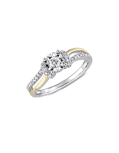 Concerto Sterling Silver and 0.2 TCW Diamond Promise Ring-WHITE-5