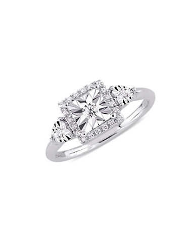 Concerto Sterling Silver and 0.16 TCW Diamond Halo Ring-WHITE-8