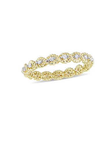 Concerto 10K Yellow Gold and 0.16 TCW Diamond Infinity Ring-WHITE-7