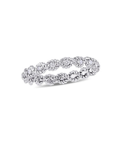 Concerto Sterling Silver and 0.16 TCW Diamond Infinity Ring-WHITE-7