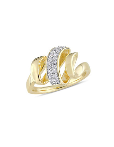 Concerto Sterling Silver Ring with 0.1 TCW Diamonds-WHITE-7