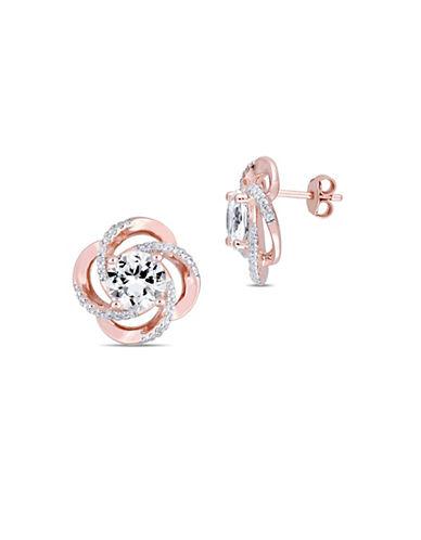 Accessories Earrings Sterling Silver White Topaz Stud Hudson S Bay