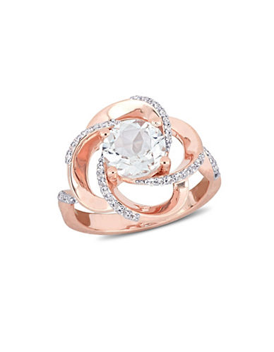 Concerto Sterling Silver White Topaz Ring-WHITE-7