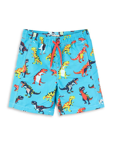 Hatley Dinosaur-Print Swim Trunks-ASSORTED-5