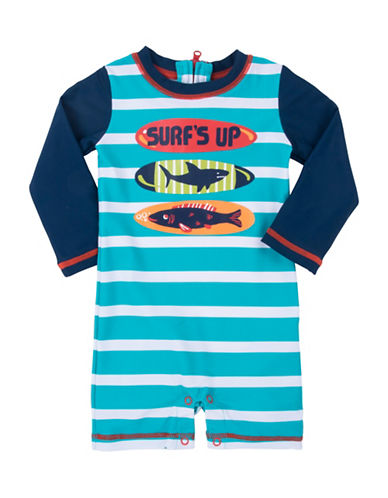 Hatley Surfboard Rash Guard-BLUE-12-18 Months
