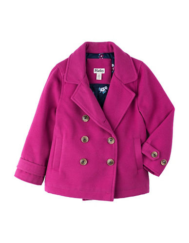 Hatley Large Pea Coat-PINK-3