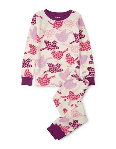 Hatley Bird-Print Pyjamas-WHITE-6