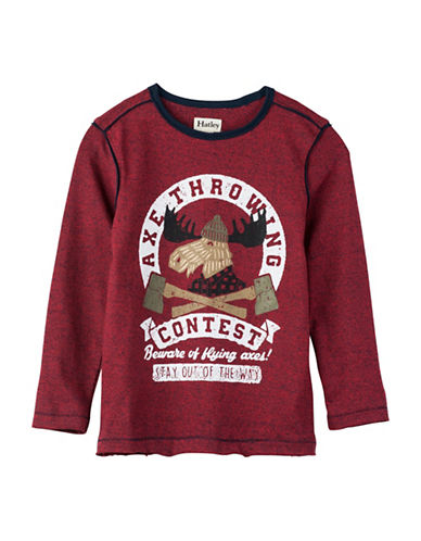 Hatley Axe Throwing Contest Cotton Sweater-RED-7