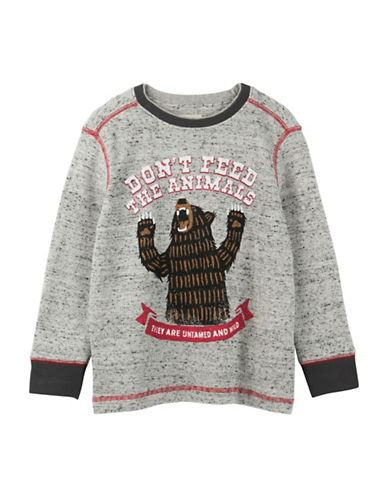 Hatley Dont Feed the Animals Tee-GREY-2