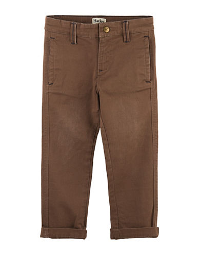 Hatley Straight Leg Khaki Pants-BROWN-5