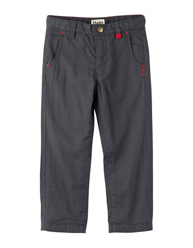 Hatley Little Boys Cotton Twill Pants-GREY-2