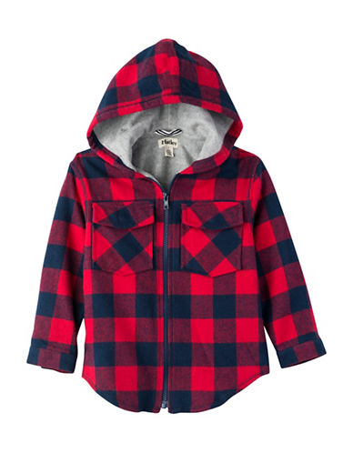 Hatley Checkered Hoodie-RED-5