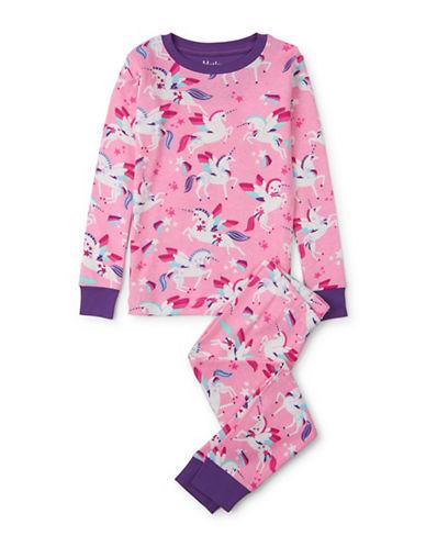 Hatley Unicorn-Print Pyjamas-PINK-4