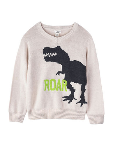 Hatley Roaring Dinosaur Sweater-NATURAL-3