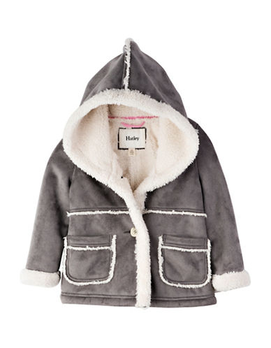 Hatley Regular Fit Faux Sherpa Jacket-GREY-7