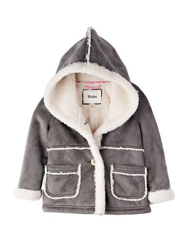 Hatley Regular Fit Faux Sherpa Jacket-GREY-5