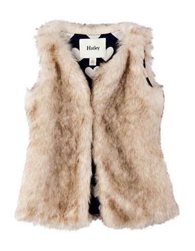 Hatley Regular Fit Faux Fur Vest-BROWN-2