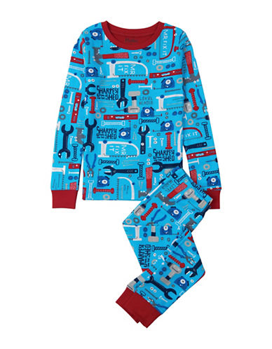 Hatley Two-Piece Tool Cotton Pajamas-BLUE-2