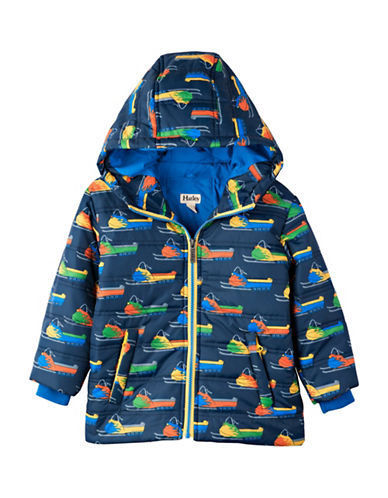 Hatley Regular Fit Snowmobile Puffer Jacket-BLUE-3