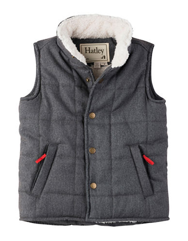Hatley Quilted Sherpa Vest-GREY-2