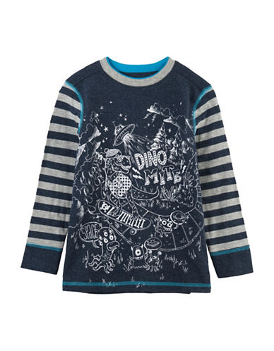 Hatley Dinosaur Vs Alien Tee-BLUE-5