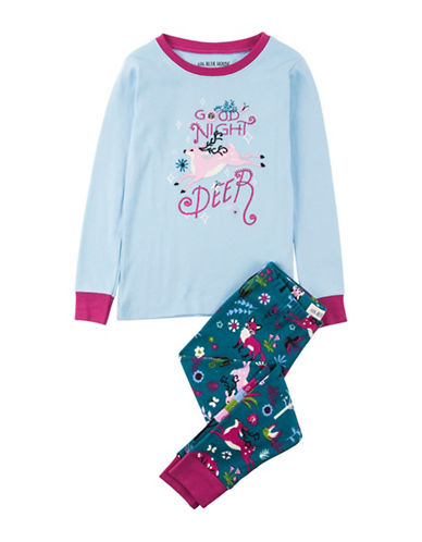 Little Blue House Two-Piece Holiday Deer Pyjama Set-GOODNIGHT-6