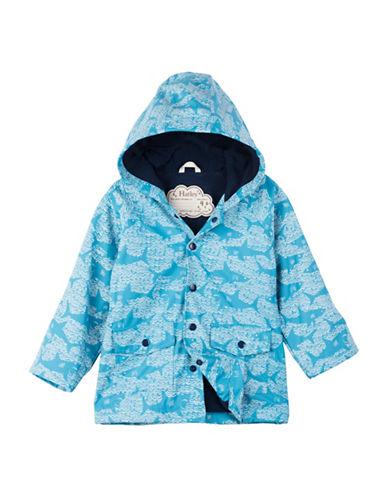 Hatley Shark Alley Mini Raincoat-BLUE-9-12 Months