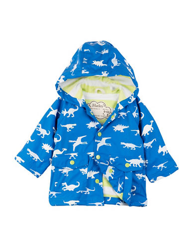 Hatley Colour Changing Dinosaur Menagerie Mini Raincoat-BLUE-9-12 Months
