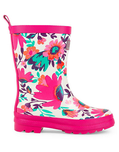 Hatley Tortuga Bay Floral Rain Boots-WHITE-13