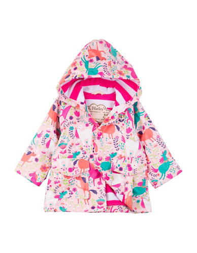 Hatley Roaming Horses Mini Raincoat-PINK-12-18 Months