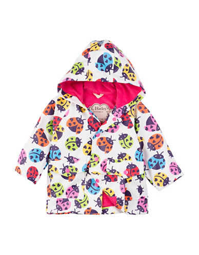 Hatley Rainbow Ladybugs Mini Raincoat-WHITE-9-12 Months