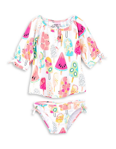 Hatley Two-Piece Ice-Cream Print Rash Guard Set-ASSORTED-2