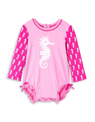 Hatley Seahorse-Print Mini Rash Guard Swimsuit-ASSORTED-12-18 Months