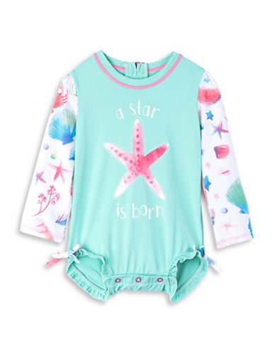 Hatley Starfish-Print Mini Rash Guard Swimsuit-ASSORTED-12-18 Months
